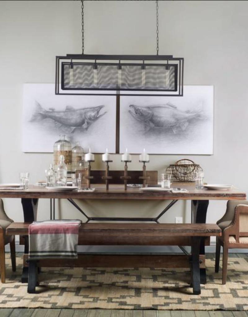 "Table Ramsey II bois et métal 40"" x 84"""