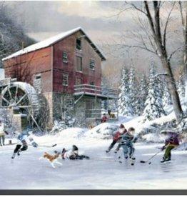 "Toile hockey et moulin 24"" x 36"""