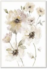 """Toile fleurs roses pastels 30"""" x 45"""""""