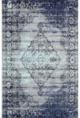 Carpette Vintwage Centro bleu grise.       2' x 3'