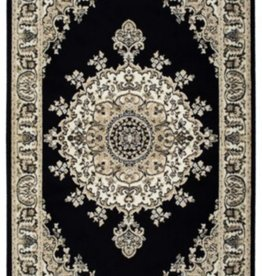 Carpette Art Silk Medaillon black 2' x 4'