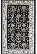 "Carpette Art Silk Bergama noir 2"" x 4"""