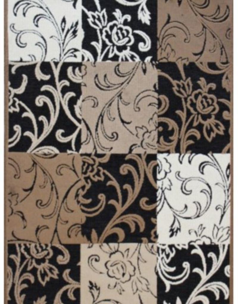 Carpette Valentine black/ochre 2' x 4'