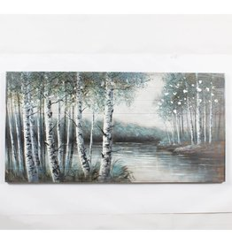 """Toile forêt paisible et lac 30"""" x 60"""""""