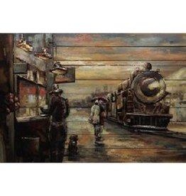 """Cadre Train sur bois 32"""" x 47"""""""