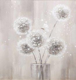 Toile boutons de fleurs 20x20