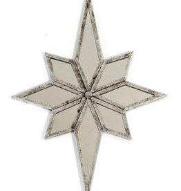 """Miroir étoile métal argent  17"""" x 24"""""""
