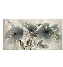 """Toile fleurs menthes 30"""" x 60"""""""