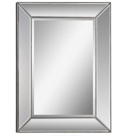 "Miroir champagne perlé L34"" x H45"""