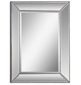 "Miroir champagne perlé L34"" x H46"""