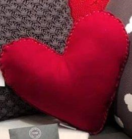 Coussin coeur rouge romance