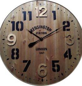 "Horloge bois Kensington Station 36"""