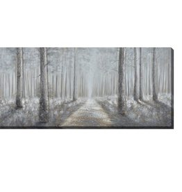 "Toile chemin bordé d'arbre MISTY WOODS 32"" X 72"""
