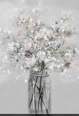 """Toile flocons de fleurs 40"""" x 40"""""""