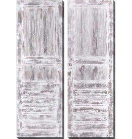 """Toile Portes du cottage (ens. de 2) 20"""" x 60"""""""
