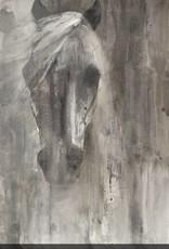 "Toile Cheval dans le brouillard 24"" x 24"""