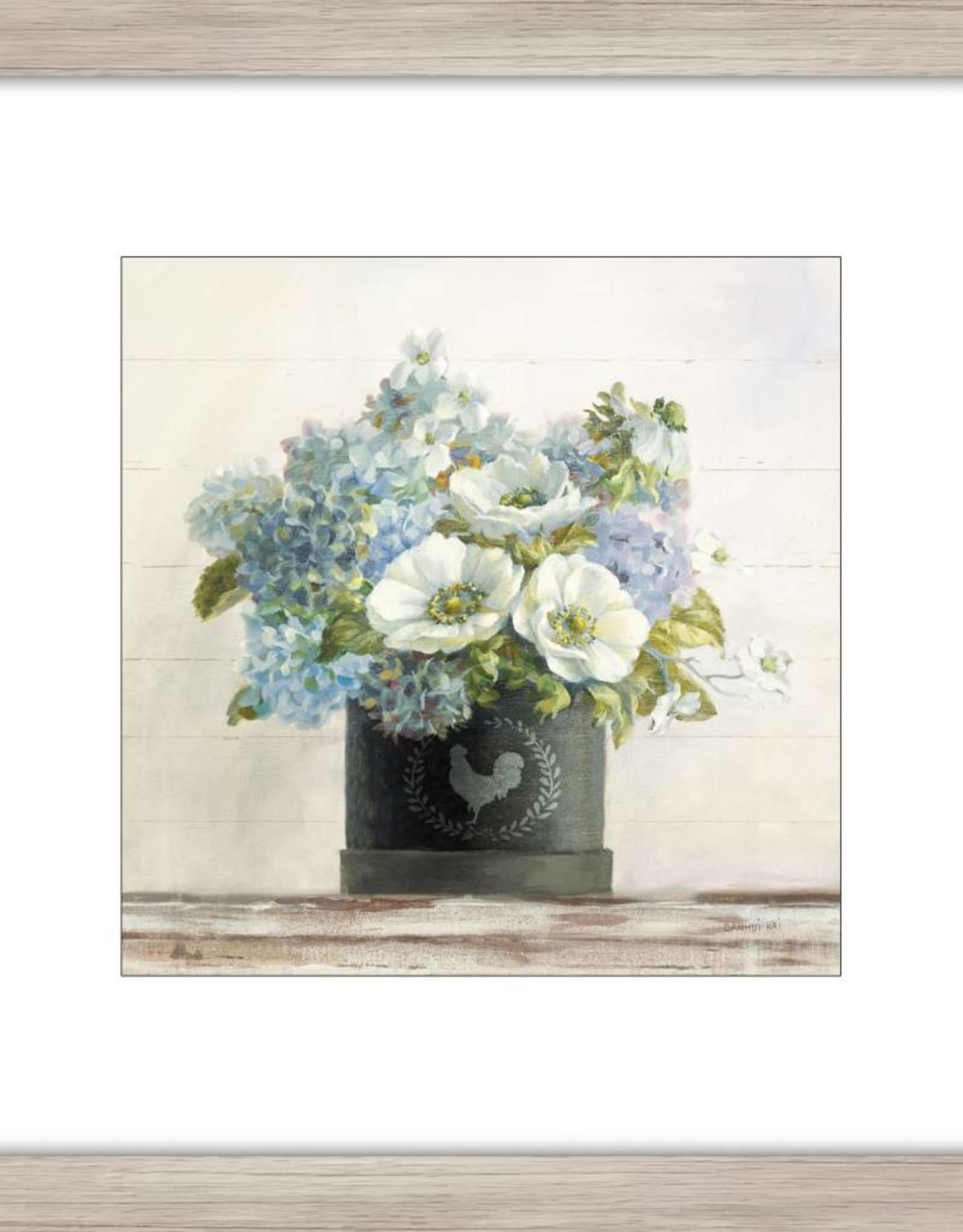 """Toile Anemone dans un vase A 18"""" x 18"""""""