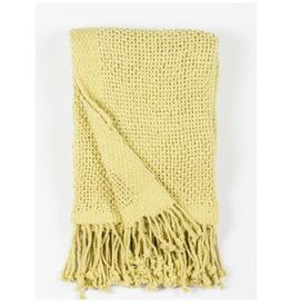 """Jeté coton crochet vert 50"""" x 60"""""""