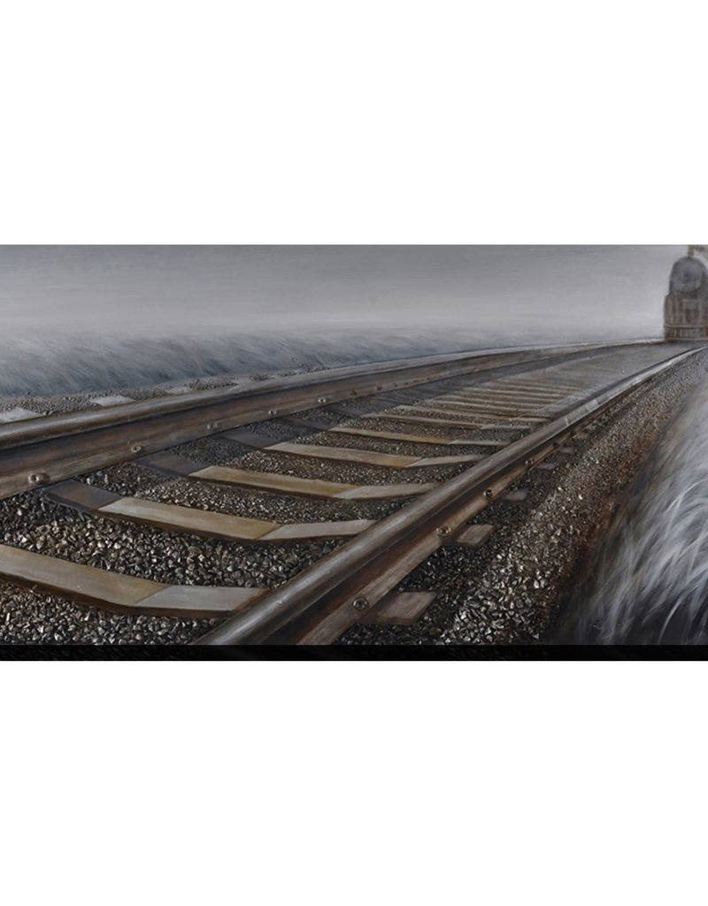 TOILE TRAIN AU LOIN