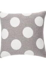 """Coussin Dots blanc/gris 20"""" x 20"""""""
