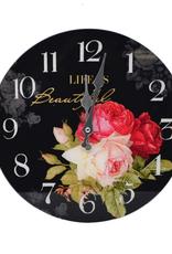 """Horloge Roses 12"""""""