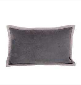 """Coussin Voge charcoal 12"""" x 20"""""""