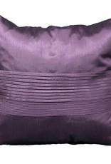Coussin Louisa aubergine 18 x 18