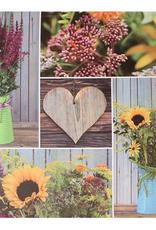 "Toile DEL collage floral 24"" x 24"""