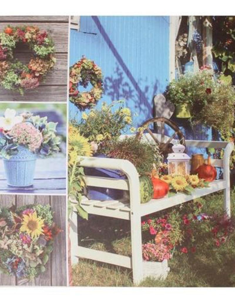 """Toile DEL jardin bleu 24"""" x 24"""""""