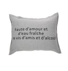 """Coussin Faute d'amour et d'eau... 14"""" x 21"""""""