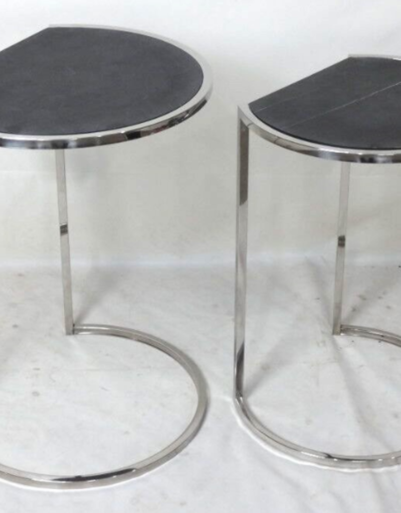 """Table Iona ardoise noire petite 13"""" x 16"""" x 22"""""""