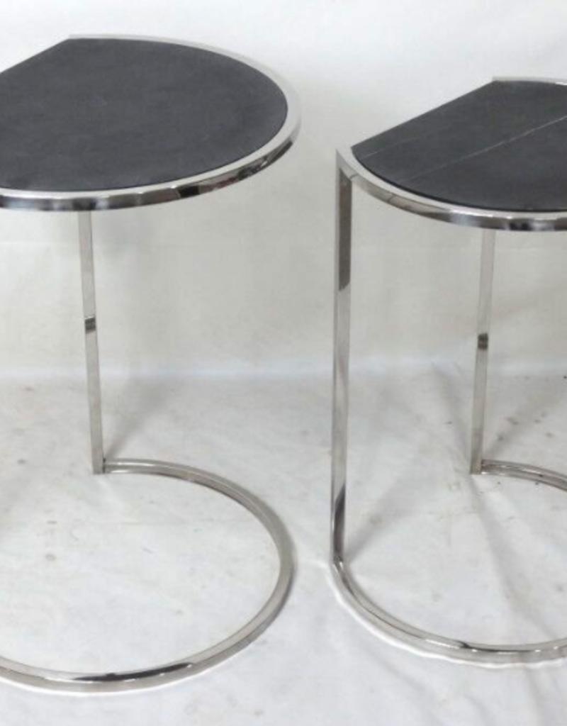 "Table Iona ardoise noire grande 14"" x 18"" x 24"""