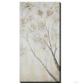 """Toile arbre gris et doré A 24"""" x 48"""""""