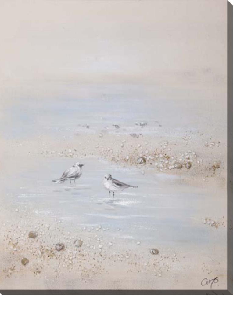 """Toile oiseaux et roches 32"""" x 40"""""""