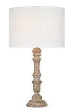 "Lampe en bois blanchi 13"" x 22"""