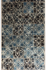 Carpette Art. silk Souma blue 3' x 5'