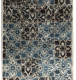 Carpette Art. silk Souma blue 3' x 5'