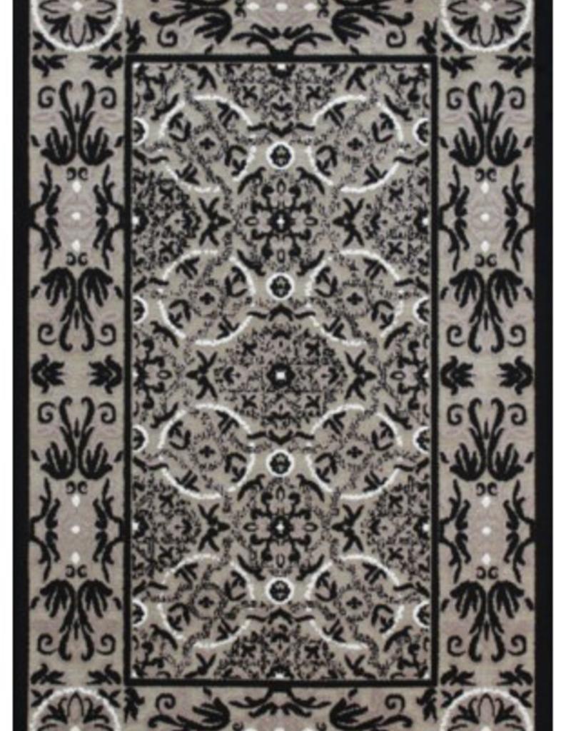 Carpette Valentine Flower Ecru/Gray 2' x 4'