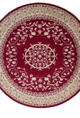 Carpette Art. Silk Sarook rouge ronde 4'