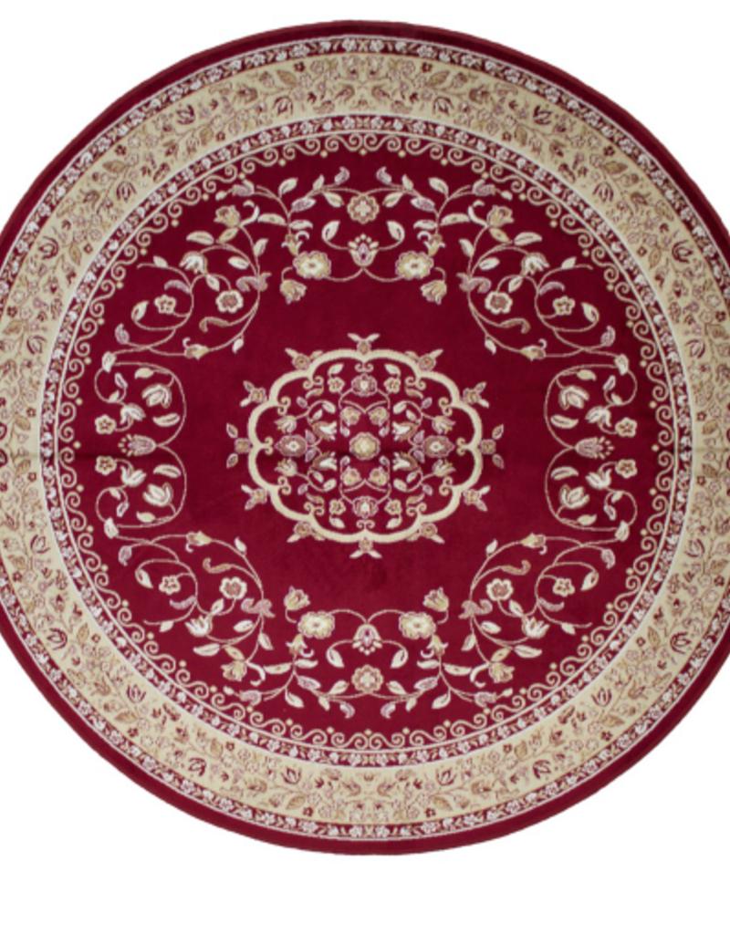 Carpette Art. Silk Sarook rouge ronde 4'