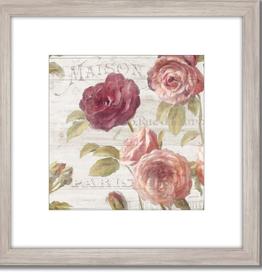 "Toile Roses Francaises V.   18""x18"""