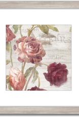 "Toile Roses Françaises IV 18""x18"""