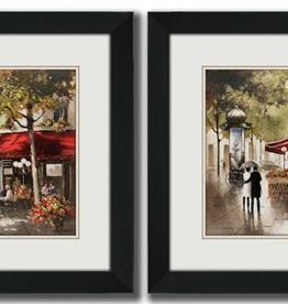 """Toile Paris Fresco 1 et 2  15""""x15"""" ensemble de 2"""