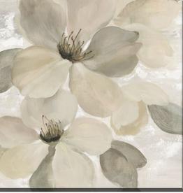 """Toile fleur grège II    24"""" x 24"""""""