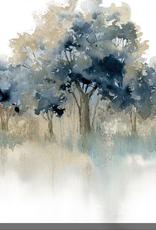 "Toile arbre bleus II.   18""x18"""