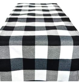 Chemin de table noir et blanc     14x45