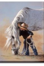 """Toile cheval cowboy 22""""x28"""""""