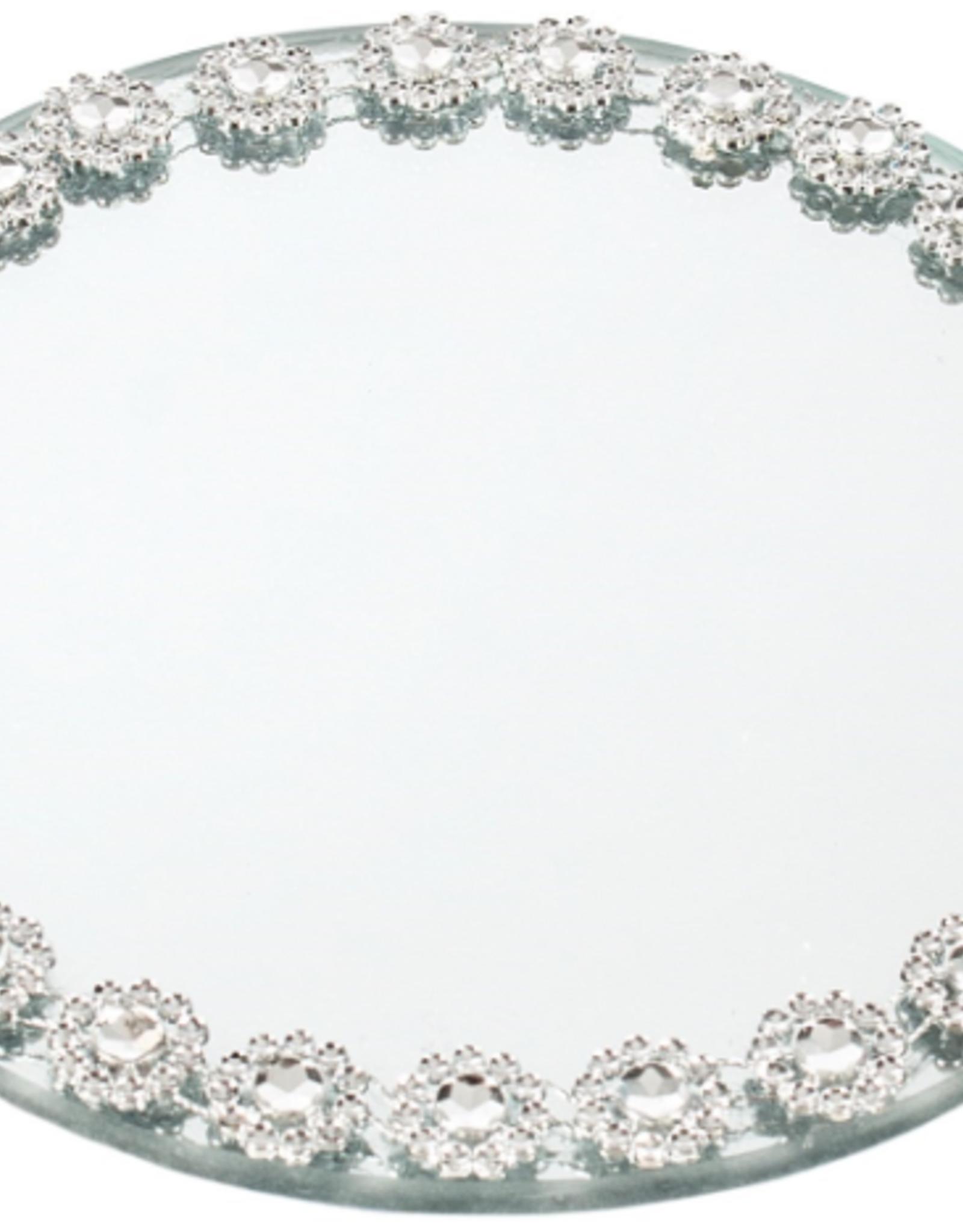 """Plateau miroir et fleurs 6"""""""