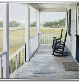 Toile avec cadre chaise sur la galerie 40 x 50
