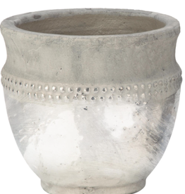 """Tripar Vase céramic Argent  hauteur 20"""""""